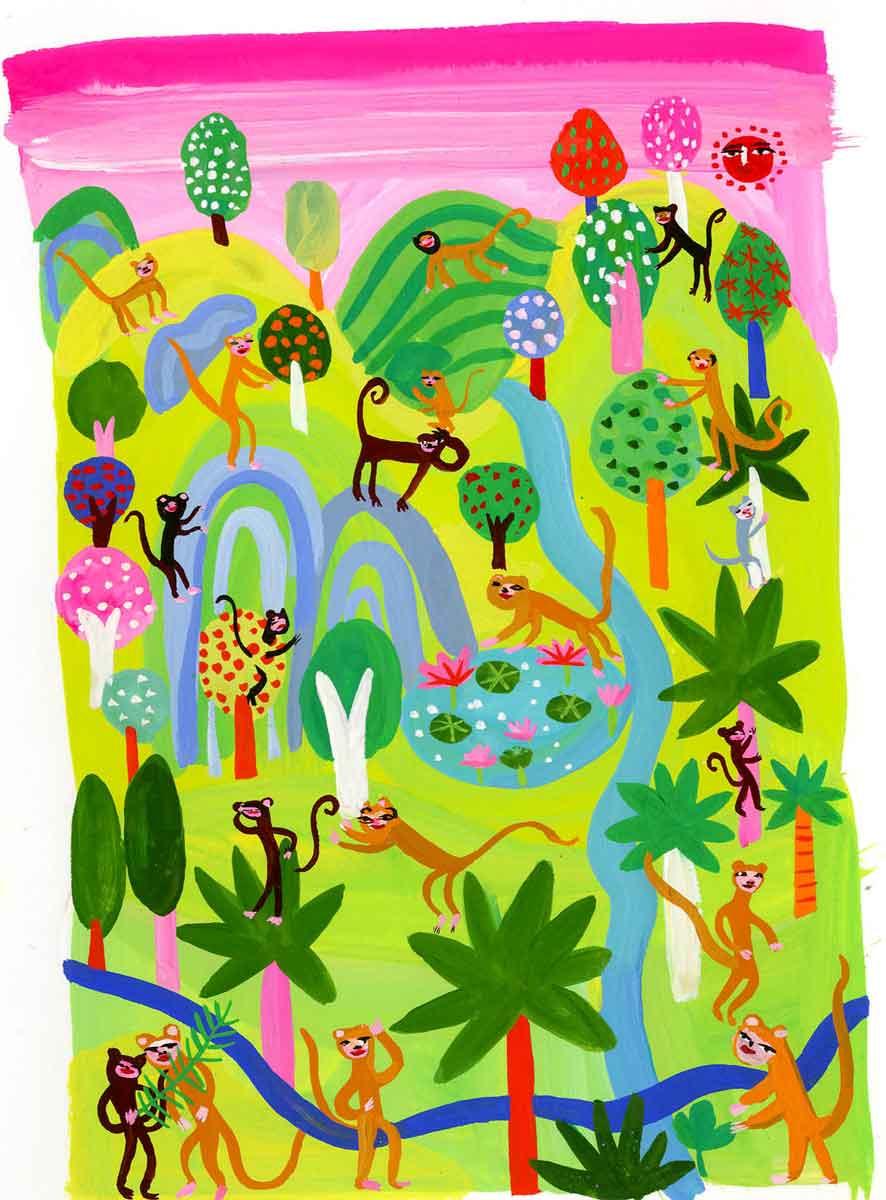 Book-Monkey-Garden