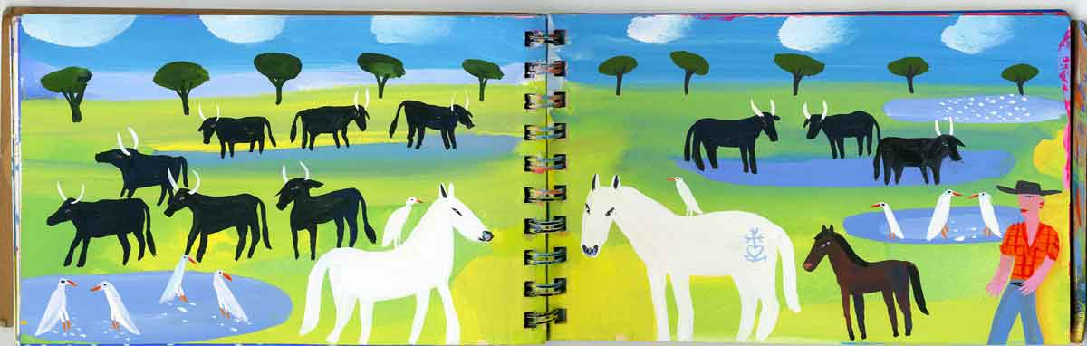 Camargue-Bulls-&-Horses