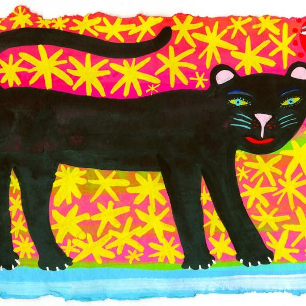 Art-black-cat
