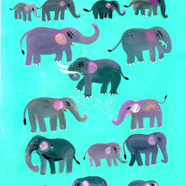 Illustration-Elephants