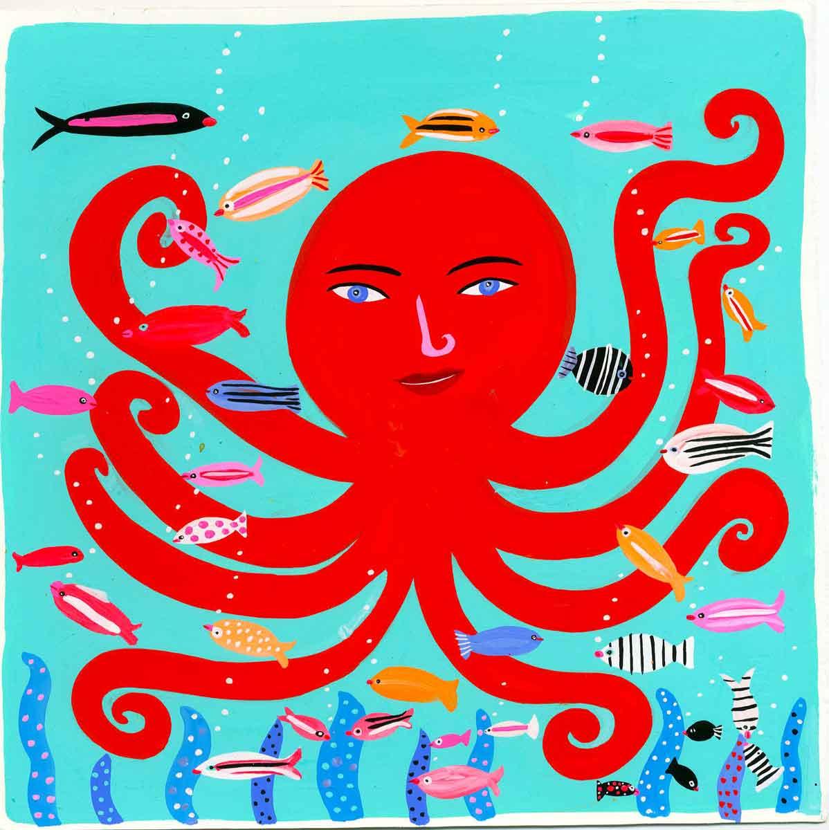 Illustration-Red-Octopus