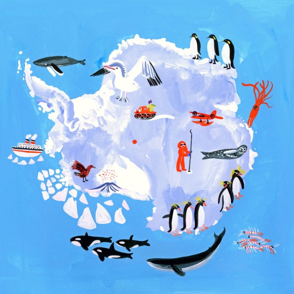 антарктида рисунок материка